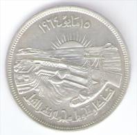 EGITTO 50 PIASTRES 1964 Diversion Of The Nile  AG SILVER - Egitto