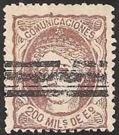ESPAÑA 1870 - Edifil #109S Barrado - 1868-70 Gobierno Provisional