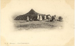 Biskra  Un Campement   A. Vollenweider (scans Recto/verso) - Biskra