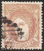 ESPAÑA 1870 - Edifil #113 - VFU - 1868-70 Provisional Government