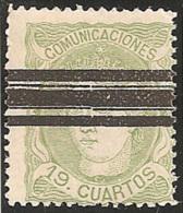 ESPAÑA 1870 - Edifil Esp. #114 No Catalogado Como Barrado - 1868-70 Gobierno Provisional