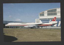 LIMITED ISSUE POSTCARD AIRCRAFT AIRPLANE AVION DC-8 SATA SWITZERLAND SUISSE - 1946-....: Moderne