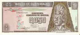 BILLETE DE GUATEMALA DE 1/2 QUETZAL DEL  14 DE FEBRERO 1992 (BANK NOTE) SIN CIRCULAR-UNCIRCULATED - Guatemala