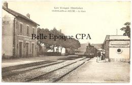 88 - BAZOILLES-sur-MEUSE - La Gare / Arrivée Du TRAIN ++++ Édit. Mlle Guyot, Tabac +++++ RARE / Pas Sur Delcampe - France