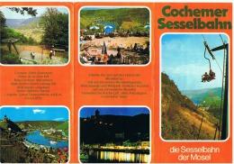 EIFEL - Déplians Touristique - Cochemer Sesselbahn - Touristische Broschüre Mit Fotos (sf87) - Plakate