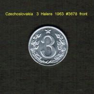 CZECHOSLOVAKIA    3  HALERE  1963  (KM # 52) - Czechoslovakia