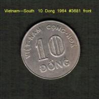 VIETNAM---SOUTH    10  DONG  1964  (KM # 8) - Vietnam