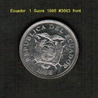 ECUADOR    1  SUCRE  1986   (KM # 85) - Ecuador