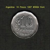 ARGENTINA    10  PESOS  1967   (KM # 60) - Argentina