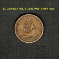 BR. CARIBBEAN TERRITORIES    5  CENTS  1965   (KM # 4) - East Caribbean States