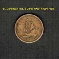 BR. CARIBBEAN TERRITORIES    5  CENTS  1965   (KM # 4) - Caribe Británica (Territorios Del)
