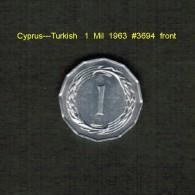 CYPRUS---TURKISH    1  MIL  1963   (KM # 38) - Cyprus