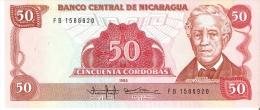 BILLETE DE NICARAGUA DE 50 CORDOBAS DEL AÑO 1985  (BANK NOTE) SIN CIRCULAR-UNCIRCULATED - Nicaragua