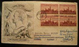 ETATS-UNIS  :  ENVELOPPE PREMIER  JOUR  ANNEE 1946 ,  A  VOIR . - 1941-1950