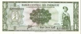BILLETE DE PARAGUAY DE 1 GUARANI DEL AÑO 1952  (BANKNOTE) SIN CIRCULAR-UNCIRCULATED - Paraguay