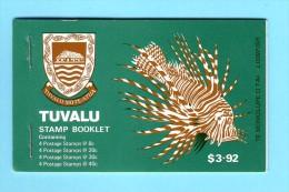 TUVALU BOOKLET CARNET COMPLET DE 16 TIMBRES POISSONS  1979 / MNH** / CM 95 - Peces