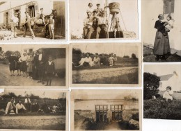 HERIC - BOUT  DE  BOIS  (44)   Lot De 8 Photos Véritables De BOUT DE BOIS - Années 1930 - 1937 - Lieux