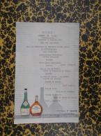 Menu Du 12/02/1961 Commune De Sossay Fête Des Laboureurs - Distillerie Barré Poitiers - Menus