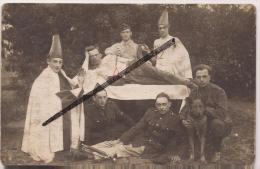 ACP - CPA - Photo - GROUPE DE SOLDATS DEGUISES - 1914 - 1918 - Vierge - A Identifier - Animée - Postcards