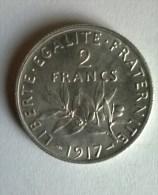2 Francs 1917 - Semeuse - Argent - Superbe +++ -