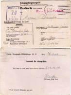 Camp De Prisonniers De Guerre Kriegsgef-Offizierlaguer IV D - 20 -Accusé De Réception (63204) - Marcophilie (Lettres)