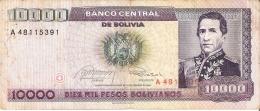 BILLETE DE BOLIVIA DE 10000 PESOS BOLIVIANOS DEL AÑO 1984 (BANKNOTE) - Bolivia