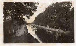 PHOTO  Du CANAL De NANTES à BREST  En 1934   ( Péniches) - Lieux