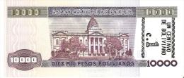 BILLETE DE BOLIVIA DE 10000 PESOS BOLIVIANOS AÑO 1984 RESELLO 1 CENTAVO DE BOLIVIANO (BANKNOTE) SIN CIRCULAR-UNCIRCULATE - Bolivia
