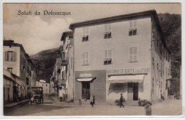 SALUTI DA DOLCEACQUA (IM) - F/P - V: 1919 - VECCHIA AUTO-ANIMATA-BELLA! - RISTORANTE CAFFE' DEI FIORI - Imperia