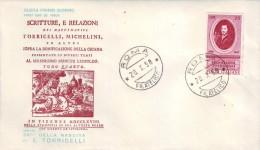 ITALIA 1958 FDC Torricelli  CAPITOLIUM - 6. 1946-.. Repubblica