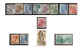 Allemagne - Zone Française,  Bade, Série Complète 1947/8 Obl. / Gest. Nr 1 - 13 - Zone Française