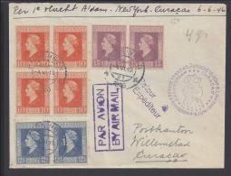 PAYS-BAS - 1946 -  PREMIER VOL NEW YORK-CURACAO  - VIA AMSTERDAM  - - Covers & Documents
