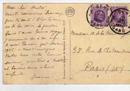 1371  Postal Gent Gand 1925 Belgica - Bélgica