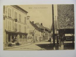 CPA MILLY  Route De Fontainebleau Le Café Animation - Milly La Foret