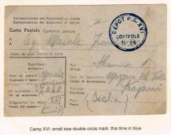 Tunisie 1944 Poste De Prisonnier De Guerre Camp XVIII - Pour Italie - Briefe U. Dokumente