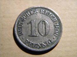 ALLEMAGNE - 10 PFENNIG 1890  A. - 10 Pfennig