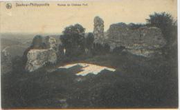 Belgique, Sautour-Philippeville, Ruines Du Château-fort, Linge En Train De Sécher, Ed. Nels, CP Ayant Circulé, Bon état - Philippeville