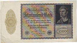 10 000 MARKS - Reischsbanknote - Du 19/01/1922 -  RARE - [ 3] 1918-1933 : République De Weimar