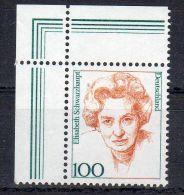 1997, Allemgane,  Elisabeth Schwarzhaupt , YT No. 1787  Avec Coin, Neuf  ** , Lot 40422 - BRD