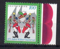 1997, Allemgane,  Carnaval De Cologne , YT No. 1735  Avec Bord, Neuf  ** , Lot 40434 - BRD