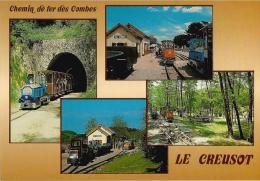 Le Creusot - Chemin De Fer Des Combes, Locomotives, Wagons, Tunnel, Gare; Aiguillage évitement - Non écrite - Le Creusot