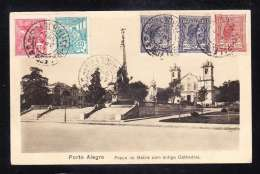 BR1-89 PORTO ALEGRE PRACA DE MATRIZ COM ANTIGA CATHEDRAL - Porto Alegre