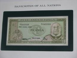 1 Pa Anga - Pule Anga O TONGA  - Billet Neuf - UNC  !!!  *** ACHAT IMMEDIAT *** - Tonga