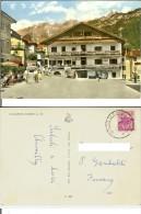 """Calalzo Di Cadore (BL): Trattoria Tabacchi """"Al Ponte"""". Cart. B/n Acquerellato Anni ´50 Vg 1962 (maggiolino Volks Wagen) - Belluno"""