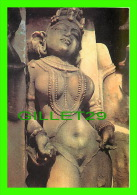 NEW DELHI, INDIA - INDE - A WOMEN FIGURE FROM KHAJURAHO TEMPLE - INDICA CARDS - - Inde