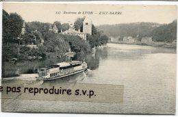 - 137 - Environs De LYON - L'ILE-BARBE - Bateau, Peu Courante, Pub Cacao Meunier, Non écrite, TBE, Scans. . - Lyon