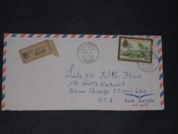 Gabun Gabon Gabonaise 1973 R-Cover Einschreiben Registered Envelope Port Gentil - Chicago  Airmail Luftpost - Gabun (1960-...)