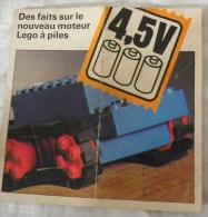 Dépliant LEGO  Plan Notice Des Faits Sur Le Nouveau Moteur à Piles - Catalogs