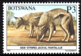 Botswana - 1987 Animals P3 Jackal (**) # SG 637 , Mi 421 - Botswana (1966-...)