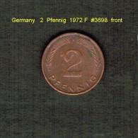 GERMANY    2  PFENNIG  1972 F   (KM # 106a) - [ 7] 1949-… : FRG - Fed. Rep. Germany